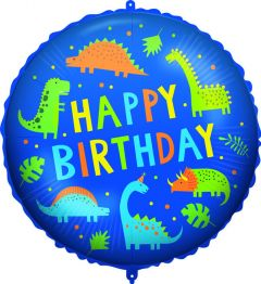 Ballong Dino Happy Birthday Folie 46 cm