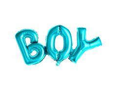 Ballong BOY Blå Folie 67x29 cm