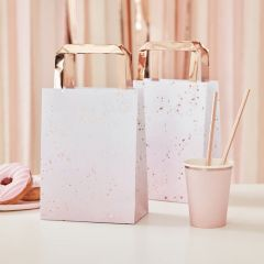 Partybag papir Ombre Rose Gold 5 stk, 17x27cm